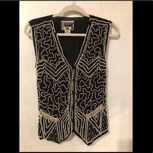 Vintage Silk Pearl Vest